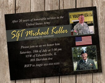 Army Retirement Party Invitation