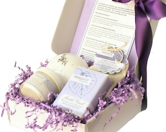 Lavender Bath Set, Spa Bath Set, Bath Gift Set, Birthday Gift, Gift for Her, Gifts for Women, Gift Set, Bath Gifts, Lavender Gifts, Lavender