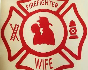 Firefighter wife sticker decal