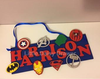 Superhero Door Plaque