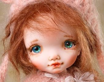 Ooak art doll Interior doll Handmade doll Sculpture doll baby  Handmade doll