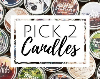 Pick 2 4oz Soy Candles | Bookish Candle Bundle | Bookish Gift