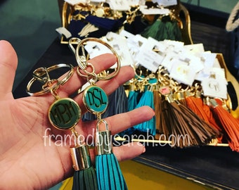 Personalized Tassel Key Ring