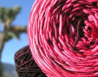 Sport Weight Yarn - Custom Dyed Shawl Yarn - Dragon Fire