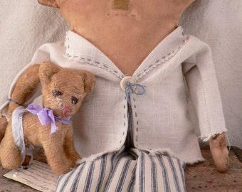 Primitive Boy Doll.Boy Doll, Prim Boy Doll, Little Boy Blue,Prim Decor, Primitive Decor, HAFAIR