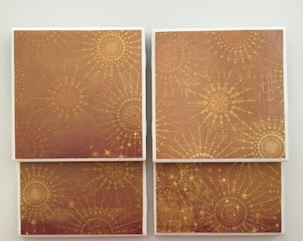 Sunburst Tile Coasters