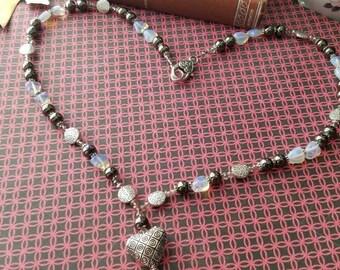 Pendant Heart Necklace Boho Gypsy Valentines Gift