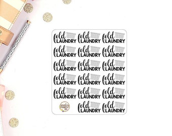 Fold Laundry Planner Stickers
