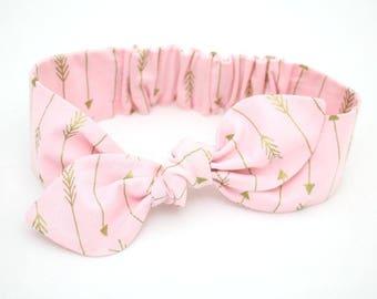 Pink Arrow headband, Womens Headband, Adult Headband, Headband for Women, Girl Headband, Headbands, Girl, Women, Headband, Gold