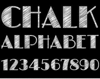 Chalkboard Alphabet Clipart Letters Clipart Scrapbooking Chalk Typography Alphabet Clip Art White Numbers Digital Text Clipart