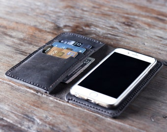 iPhone 7/8/7+/8+ Case - Personalized, iPhone 7 PLUS, iPhone 6, etc. See Dropdown Menu, iPhone Wallet Case, Leather iPhone Wallet Case #055