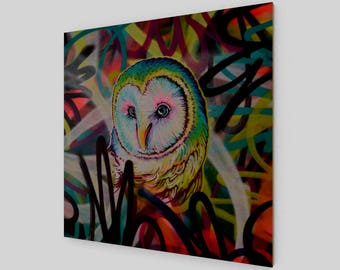 OWL VIII / wood print