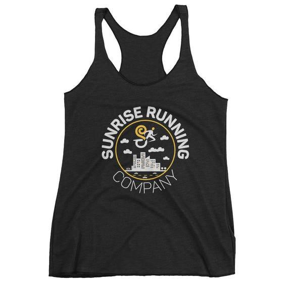 Women's Sunrise Running Company City Runner - Women's Triblend Tank Top - Racerback Tank Top