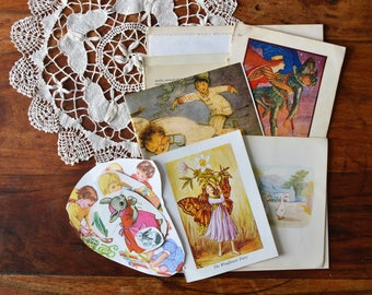 Vintage ephemera. Vintage Book Pages And Paper Scrap Pack From The 1930's-1980,s, Collage, Junk Journals, Paper Crafts, 22 Piece Set