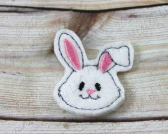 Bunny Head felt feltie Embroidery design