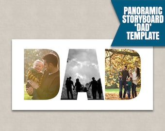 Dad Photoshop Collage template, Storyboard templates, psd Collage Template, photographer moodboard, photography dad ideas, instant download