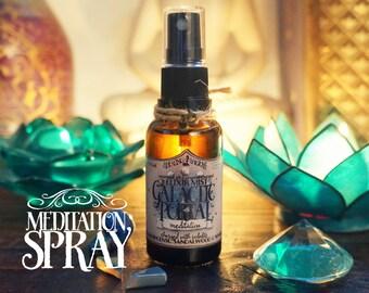 Meditation Spray *Galactic Portal* with Essential Oils and Crystals -Frankincense, Sandalwood, Myrrh & Sodalite (1oz - 30ml)