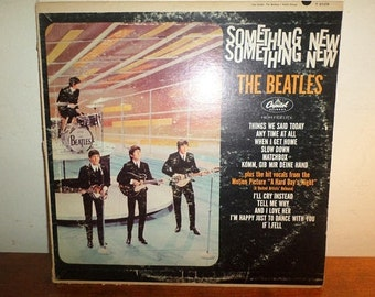 Vintage 1964 LP Record The Beatles Something New Capitol Records T-2108 Mono Very Good Condition 12078