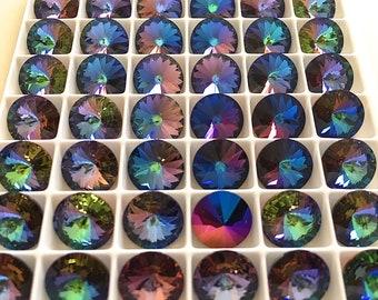6 Crystal Blue SPhinx Swarovski Crystal Rivoli Stone 1122 47ss 10mm