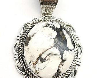 White Buffalo Concho Pendant