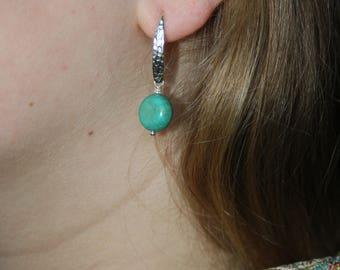 Turguoise  and 925 sterling silver earrings.