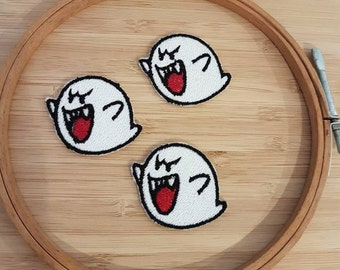 Mario Bros Ghost Patch iron-on adhesive