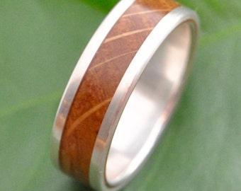 Lados Kentucky Bourbon Barrel Wood Ring - reclaimed bourbon barrel ring, wood wedding band, wood wedding ring, whiskey barrel ring