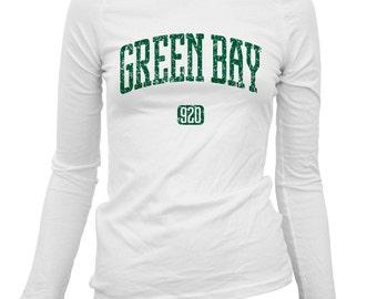 Women's Green Bay 920 Long Sleeve Tee - S M L XL 2x - Ladies' Green Bay T-shirt, Wisconsin - 3 Colors