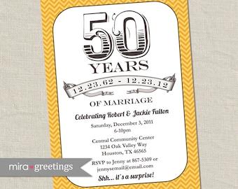 50th Anniversary Invitation -  Printable Digital Invitation