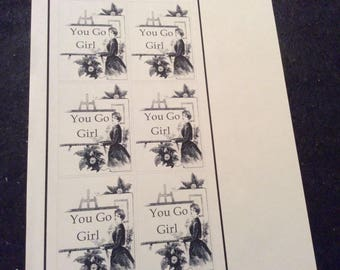 You go girl stickers