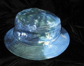 Océans bleu Tye Dye Gilligans île seau chapeau jeunesse et taille adulte