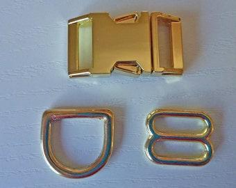 Upgrade! Gold Metal Hardware Upgrade - 5/8, 3/4 & 1 inch