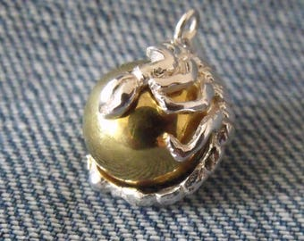 Scorpion Sterling 925 Silver/Brass Harmony Chime Ball Angel Caller Pendant Jewellery Mexican Bola