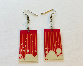 Unique Handcrafted Recycled Magazine Earrings
