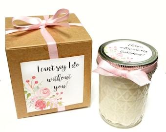 Bridesmaid Favor | Bridesmaid Candle | Bridesmaid Gift | Wedding Favors | Wedding Favor Candle | Maid Of Honor Gift | Rustic Wedding Favors