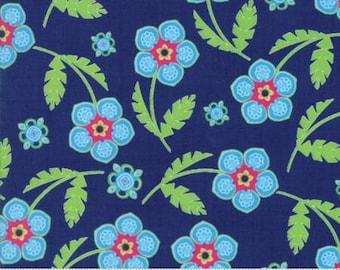 Moda - Manderley by Franny & Jane Manderley - Navy - 100% cotton fabric - Fabric by the yard(s)