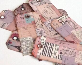 12 Paper Ephemera  Gift/Thank You Tags