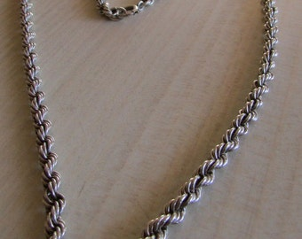 """Sterling Silver 5mm Rope Chain 26"""""""