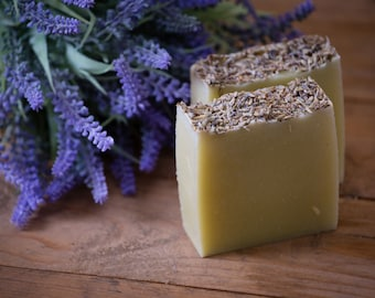 Lavender Soap - Certified 100% Natural Pure Vegan Handmade Soap (Cold Process)