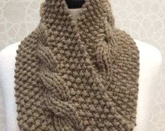 Knit Reversible Cable Neck Warmer