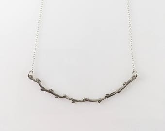 Silver Twig Necklace, Branch Necklace, Tree Jewerly