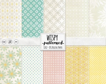 Pastel Digital Papers, Pink, Blue & Yellow Digital Scrapbooking, Baby Shower Pattern Paper, Baptism, Christening