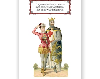 Eccentric Couple - blank greeting card