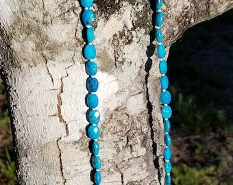 Turquoise Necklace with Heart Pendant