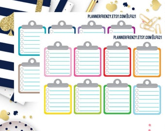 16 Clipboard To Do Checklist Stickers! LF621