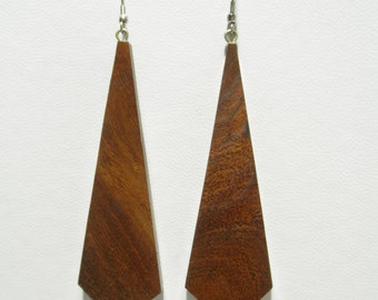 Handcrafted Wood Wooden Earrings Natural Color