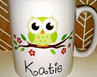 Personalised Cute Owl Mug