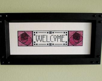 Mackintosh Welcome -- Cross Stitch Pattern PDF