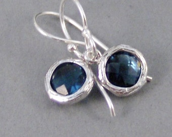 Silver Sapphire,Earrings,Sapphire Earrings,Birthstone,Birthstone Earrings,Sapphire,Blue,Silver Earrings,Sterling.Handmade SeaMaidenJewelry