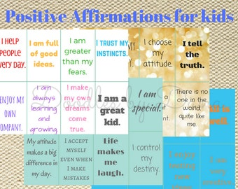 120 Lunchbox Love Notes for kids- Positive Affirmations - Printable - Instant Download